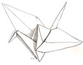 A Paper Crane - drawing of a paper crane clipart best
