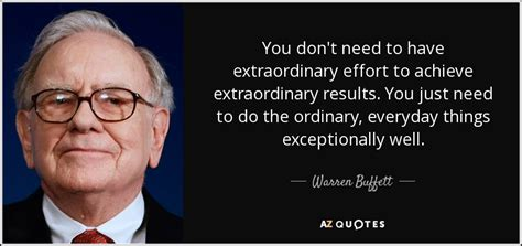 Which Elevated American Dish Did You Want To Try by Warren Buffett Quote You Don T Need To Extraordinary