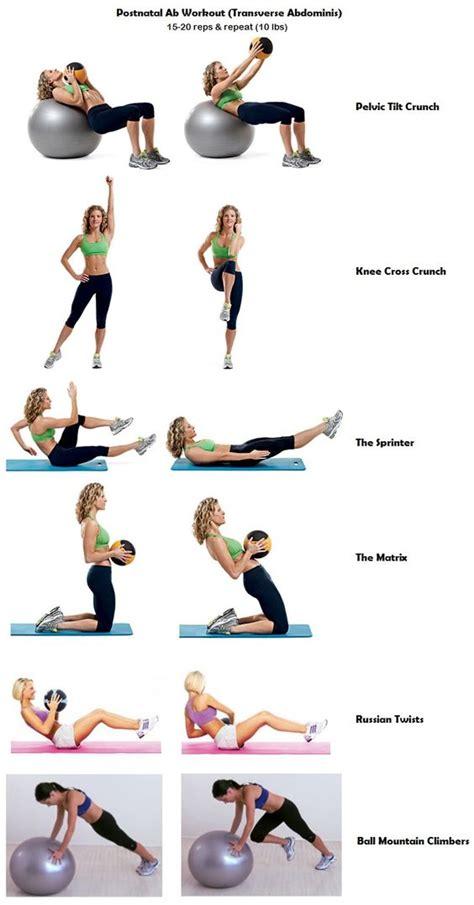 postnatal ab workout works transverse abdominis