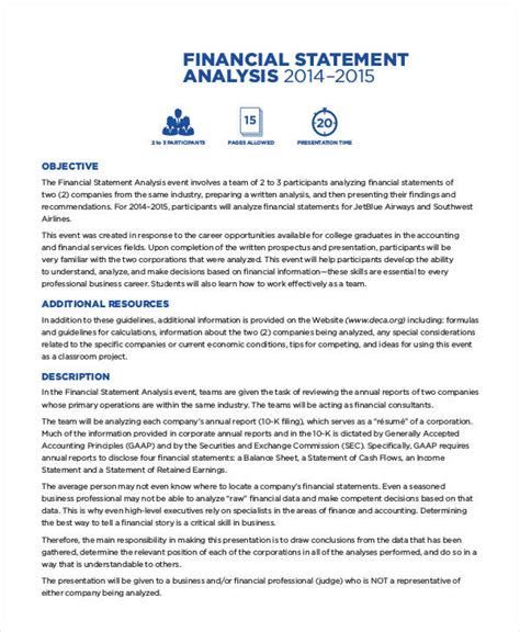 Financial Analyst Report Exle