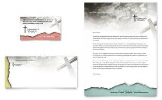 bible church business card amp letterhead template word