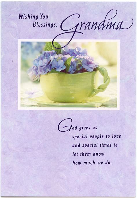 Grandmother Birthday Card Sayings Wishing You Blessings Grandma Greeting Card Marges8 S