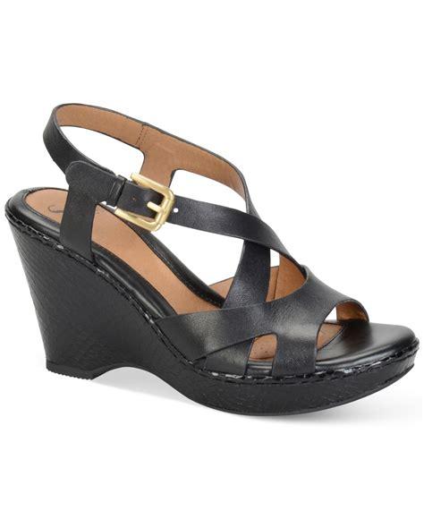 platform wedge sandals s 246 fft vivien platform wedge sandals in black lyst