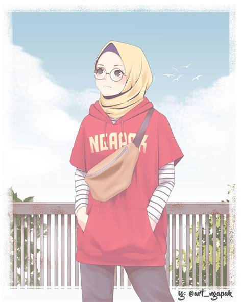 anime hijab bahagia anime hijab