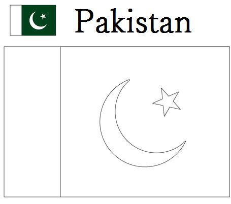 geography blog pakistan flag coloring page