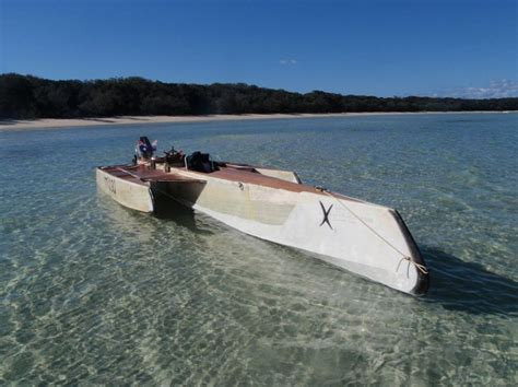 fast jon boat simple plywood trimaran google search boats