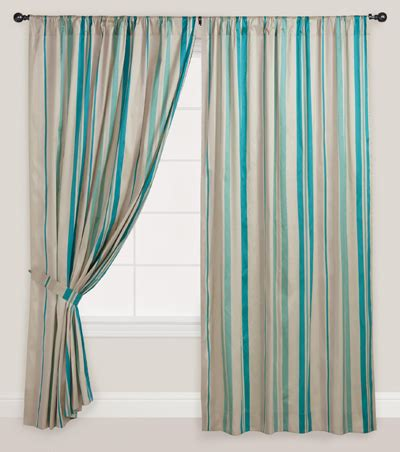 blue stripe curtain blue striped lined curtain everything turquoise