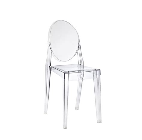 Victoria Armless Ghost Chair Clear A1 Party