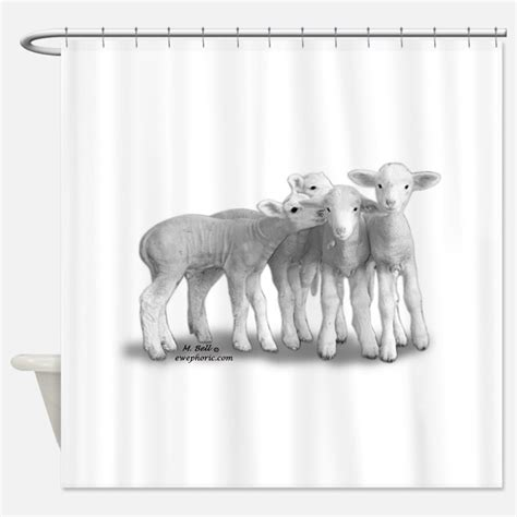 sheep shower curtain sheep shower curtains sheep fabric shower curtain liner