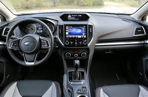 subaru crosstrek interior back 2018 subaru crosstrek 2 0i limited test drive review