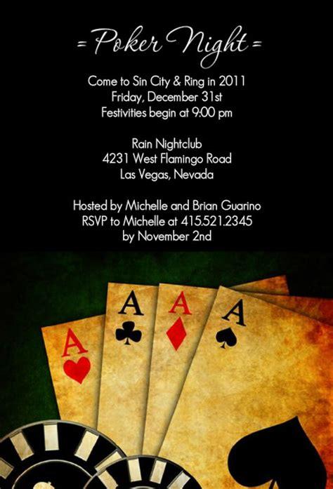 poker nightcasino party invitations poker night