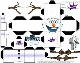 cubeecraft template of olaf from disney s frozen by