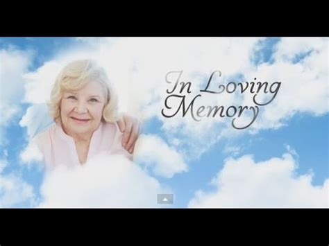 Memorial Templates By Memory Magic Youtube Memorial Service Slideshow Powerpoint Template