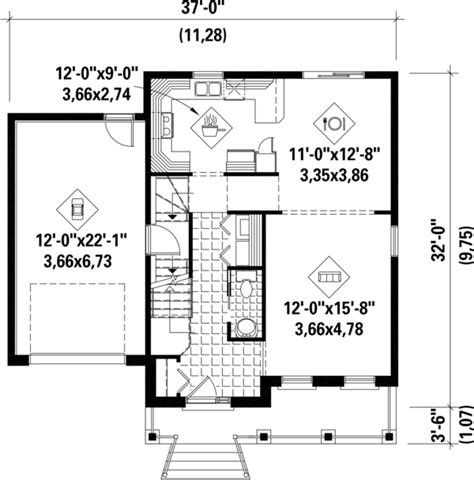 Contemporary Style House Plan 4 Beds 1 Baths 1800 Sq Ft 1800 Square Foot House Plans 4 Bedrooms