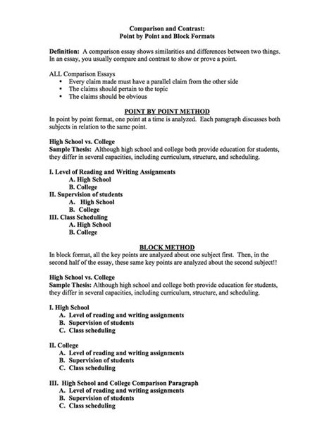 Method Of Writing An Essay by How To Write Compare And Contrast Essay Block Method Drugerreport732 Web Fc2