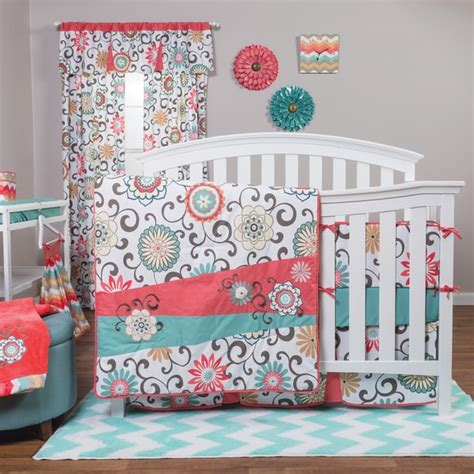 nursery bedding sets trend lab waverly pom pom play 4 piece crib bedding set