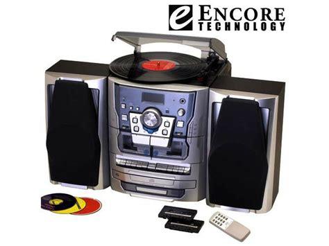 cd cassette stereo shelf system encore 5 in 1 turntable cd cassette radio stereo system