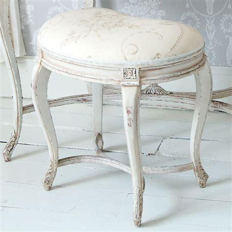 delphine distressed white painted stool products shabby