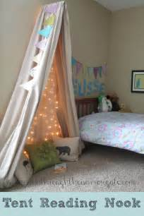 How To Drape A Canopy Bed tent reading nook for a small space
