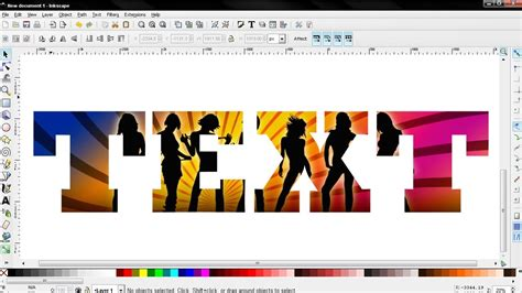 inkscape lettering tutorial image inside text inkscape tutorial youtube