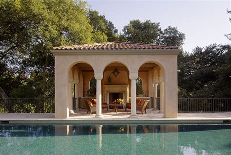 Outdoor Kitchen And Fireplace Designs by Pool House Mediterranean Pool San Francisco By