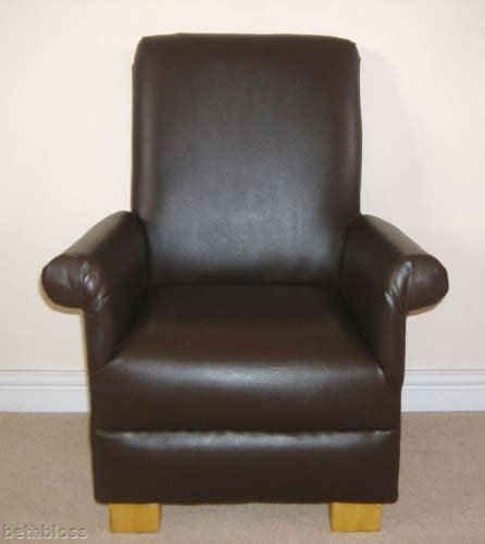 Childrens Faux Leather Armchair by Brown Faux Leather Child S Chair Armchair Nursery