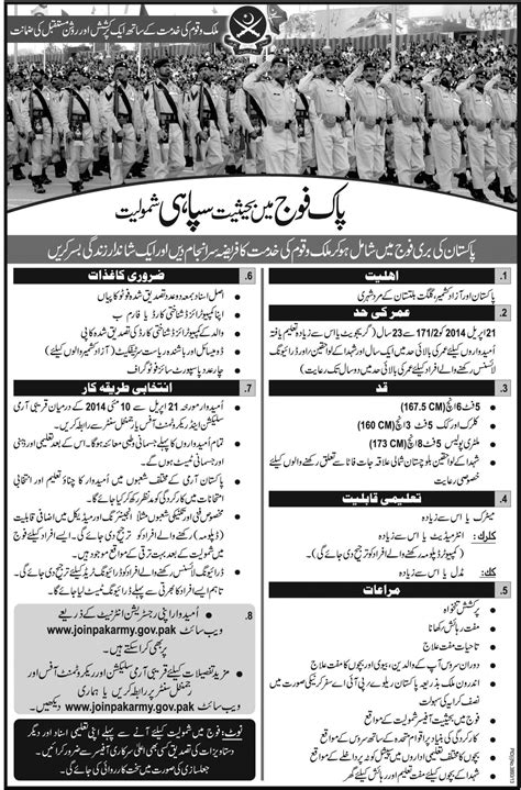 Join Pak Army As Soldier 2015 Online Registration, Eligibility