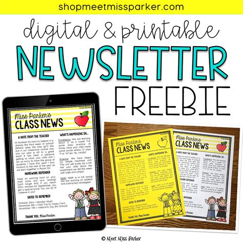 newsletter templates for books free newsletter template for your classroom this editable
