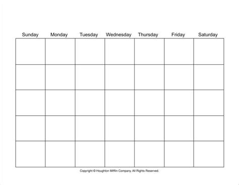 7 day calendar template 9 birthday calendars free sles exles formats
