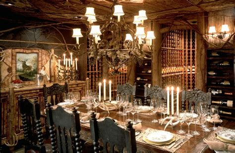 Wine Cellar Dining Room by 187 Most Extravagant Home Wine Cellars