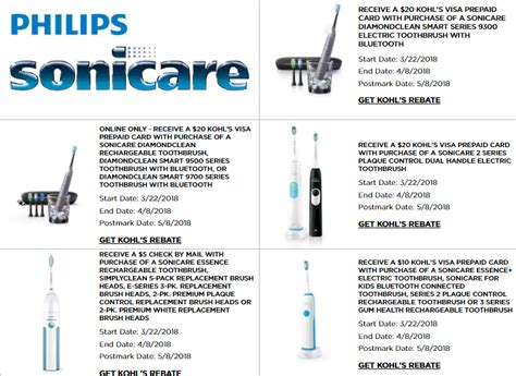 sonicare rebates  april philips sonicare coupons