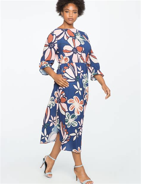 Sleeve Printed Maxi Dress printed sleeve maxi dress eloquii