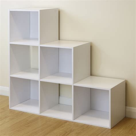 bedroom shelving units 6 cube kids white toy games storage unit girls boys childs