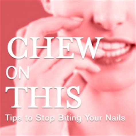 7 Tips To Stop Biting Your Nails by Chew On This Tips To Stop Biting Your Nails Dermadoctor