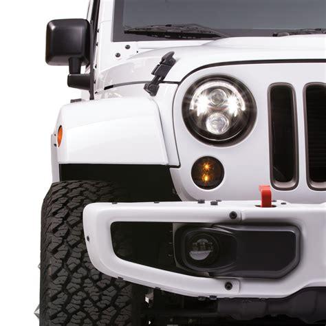 jw speaker fog lights jeep jk install jeep wrangler jk headlights led jw speaker 8700 evoulution