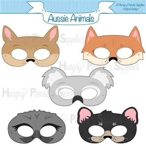 Australian Animals Printable Masks Aussie Animal Mask