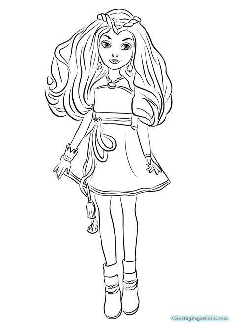 free coloring pages disney descendants descendants coloring pages 3 coloring pages for kids