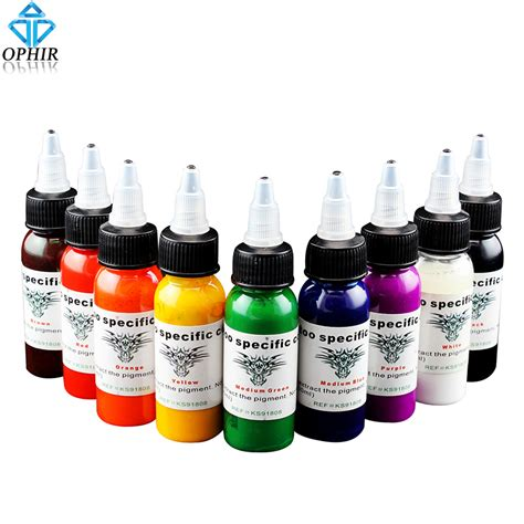 professional tattoo ink ophir 9 colors 30ml bottle professional ink pigment