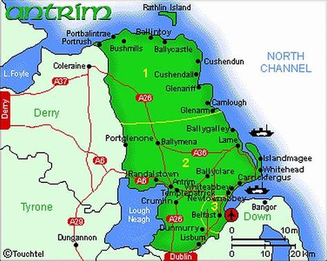 antrim coast road map