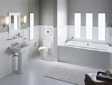 white tile bathroom ideas elegant traditional bathroom designs by kohler subway