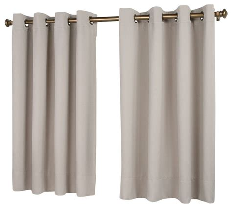 36 in length curtains ultimate black out short length panel traditional