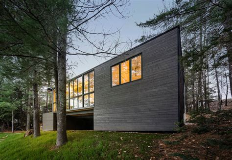 premade cottages modern prefab cabin in quebec uses innovative wood panels