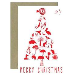 australian christmas tree card for sending overseas bits of australia