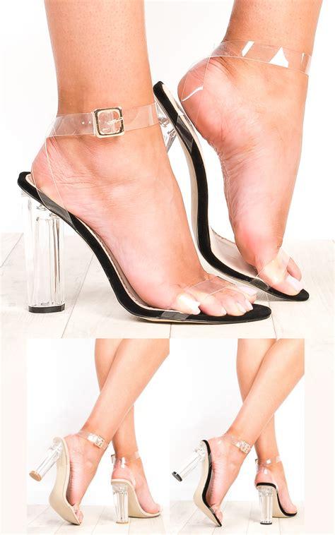 Sandal High Heels Wanita Catenzo Yt 039 s stunning clear perspex high heels