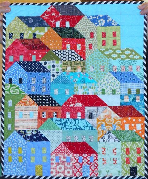 Quilt House by You To See Mini Hillside Houses Quilt By Happyfabric