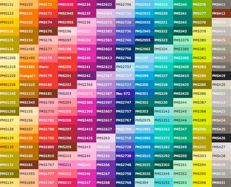 pantone paint complete pantone color chart google search patterns