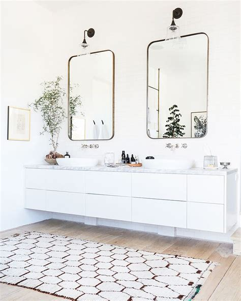 his and hers bathroom rugs 25 best ideas about double vanity on pinterest double