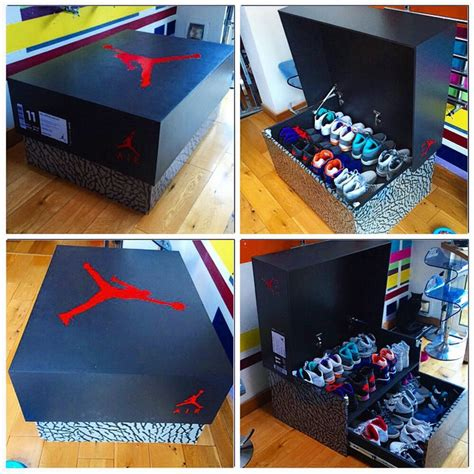 shoe storage for sale custom sneaker slide out box quinnsday