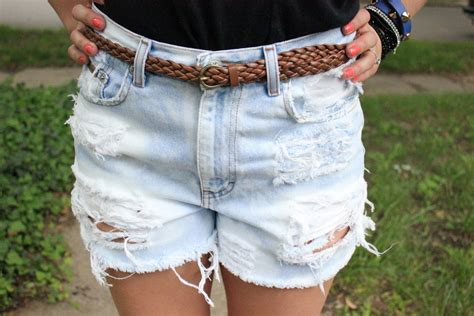 diy distressed shorts tutorial in kansas diy distressed high waisted shorts