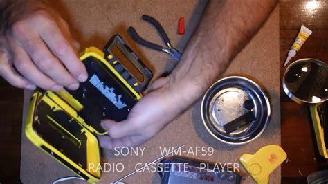 sony walkman cassette sony wm af59 sports walkman cassette player am fm radio